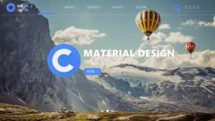 【001】Material Design网页化模板示例2