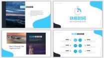 藍色雜志風工作匯報PPT模板示例7