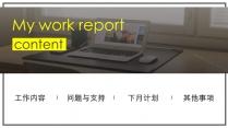 【大气 实用】工作汇报模板示例3