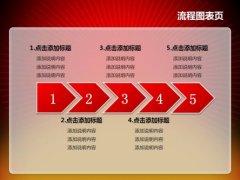 红色华表政府工作报告PPT模板示例4