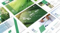 领航蓝绿色工作报告模板【187】示例2