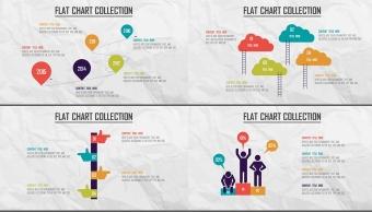 创意多色炫彩扁平可视化商业图表合25套【第七期】