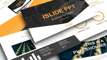 一個大氣極簡歐美風實用商務PPT模板