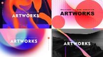 【抽象艺术】高品质多排版多用途商务模板【含四套】
