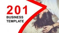 红色时尚年度汇报总结商务通用PPT模板