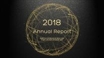 金色年终总结商务报告工作计划项目策划模板系列十二