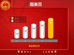 红色国徽政府工作报告PPT模板示例3