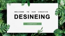 【创意绿叶】工作总结汇报多用途模板