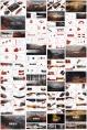 领航(水墨风)红色PPT模板【4套合集102页】示例7