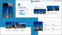 【商务中国】简约蓝色科技互联网地产工作汇报PPT示例5
