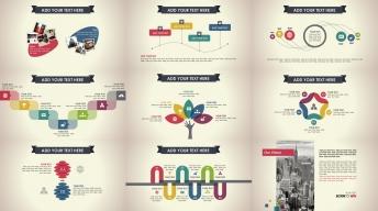 复古炫彩透叠年终总结新年计划PPT信息图表第5部