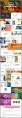 视觉化精美四色水彩油画风商务通用PPT模板示例3