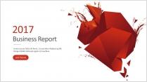 大气红色创意年终总结工作汇报新年计划模板