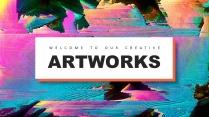 【创意抽象】多彩现代商务汇报总结计划多用途模板
