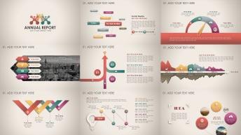 复古微立体新年计划年终总结商务PPT模板第55部
