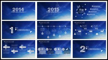 IOS风格星空大气实用商务报告4