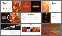 【极简线条】橙黑双色创意排版模版9示例4
