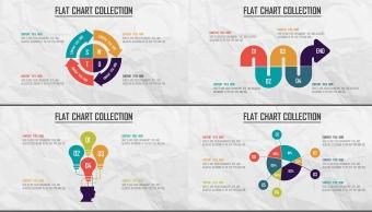 创意多色炫彩扁平可视化商业图表合25套【第二期】