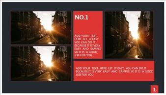 【稳重实用】红黑色高端大气商务PPT模板示例7