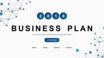 【简点】蓝色点线科技IT商务工作总结汇报PPT
