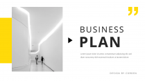 【簡約商務】黃色歐美年終工作匯報雜志風PPT模板