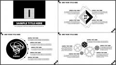 【精致到每一页】酷黑杂志风立体拼字模板示例3