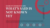【简约复古】红色系大色块大气时尚单主题内容宣传模版