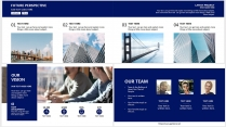 【分条析理B】蓝色科技极简大气商务工作总结年终汇报示例5