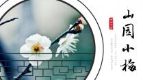 【水烟词话】山园小梅 中国风古典PPT模板