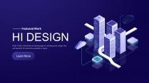 2.5D科技互联网公司企业商务商业工作PPT