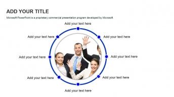 精美实用欧美风商务团队介绍展示模板示例7
