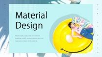 【色即是空】黄蓝清新配色时尚模板示例2