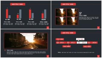 【稳重实用】红黑色高端大气商务PPT模板示例4