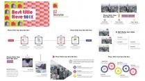 【-几何图形拼色-】创意时尚极简年度总结模板示例4
