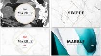 创意大理石多排版现代商务汇报工作计划模板【含四套】