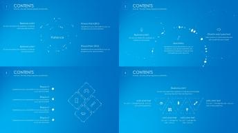 【動態、六套配色】實用、大氣的報告模板示例3