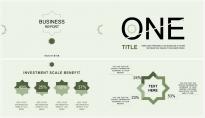 簡約公司報告可編輯圖表模板