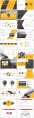 黄色系大气简约年终总结汇报PPT模板合集(含四套)示例4