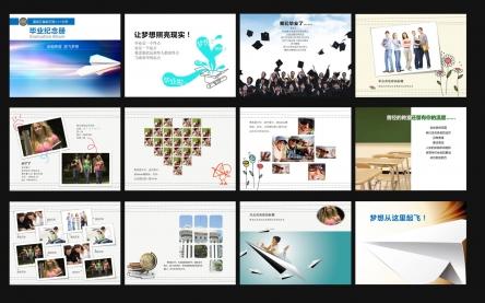 【精美实用毕业纪念册设计ppt模板】-pptstore