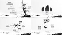 【动态】水墨竹中国风模板(双配色)示例3