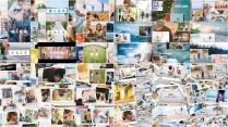 「相册」无缝衔接简约的相册动画展示模板4套合集