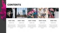 【水墨】品牌时尚高端发布展示混排多图表通用模版示例4