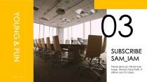 【简约商务】黄色极简报告总结模板示例4