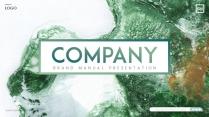 【变幻】绿色水彩质感创意时尚感ppt模板