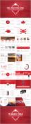 【RED】紅色(二十一)年終工作報告模板【95】示例7