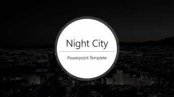 夜晚·城市——大气简约