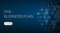 【走向深蓝】大气点线科技IT公司企业商务工作PPT