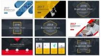 【完整框架】现代创意图文混排商业计划书策划书【含八