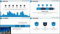 【商务中国】简约蓝色科技互联网地产工作汇报PPT示例7