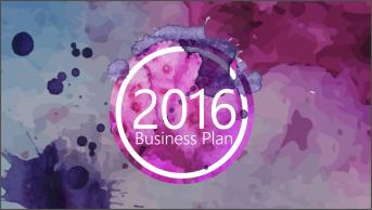 【002】紫色水墨简洁动态PPT模板